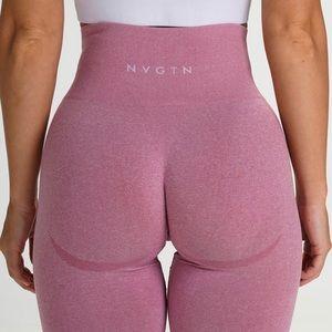 NVGTN pants in pastel pink.